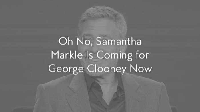 Oh No, Samantha Markle Is Coming for George Clooney Now