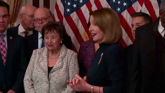 Pelosi signs border bill, says will not stand for an 'end-run around Congress'