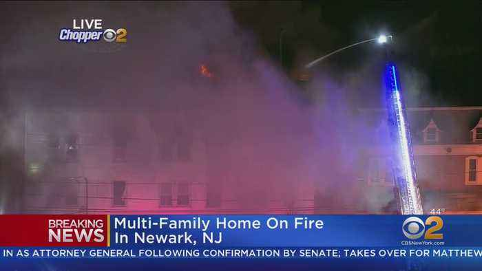 Multi-Family Home On Fire In Newark