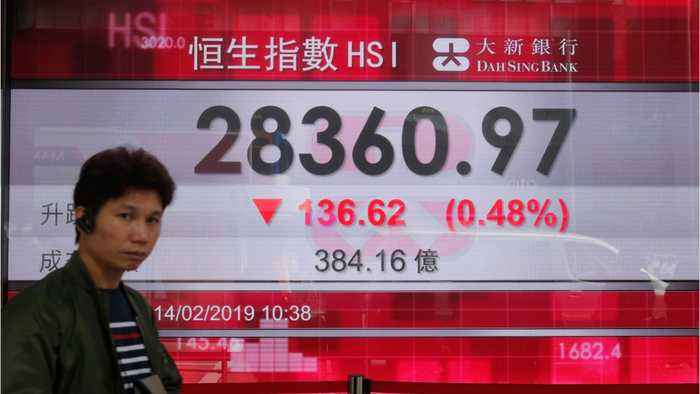 Asian Shares Down, Euro Shares Up