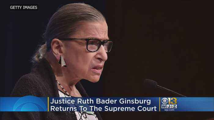Ruth Bader Ginsburg Returns To Supreme Court