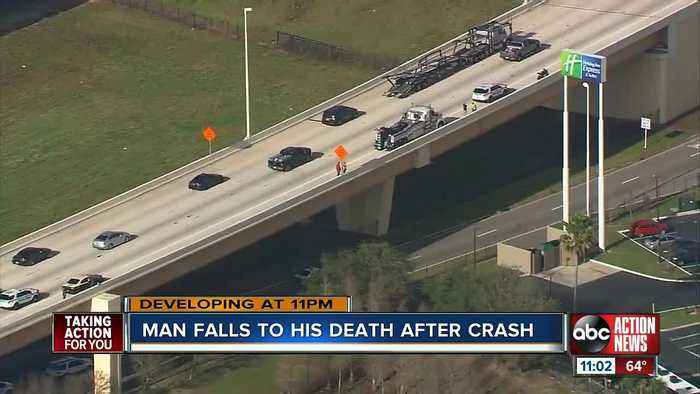 Motorcyclist falls from Tampa overpass after colliding with another motorcycle in fatal hit-and-run