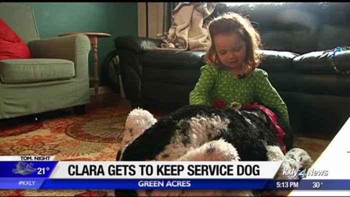 Little girl with rare liver disease gets to keep service dog thanks to community support