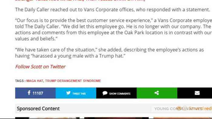 Vans Employee Harrasses Trump Supporter And Gets Fired