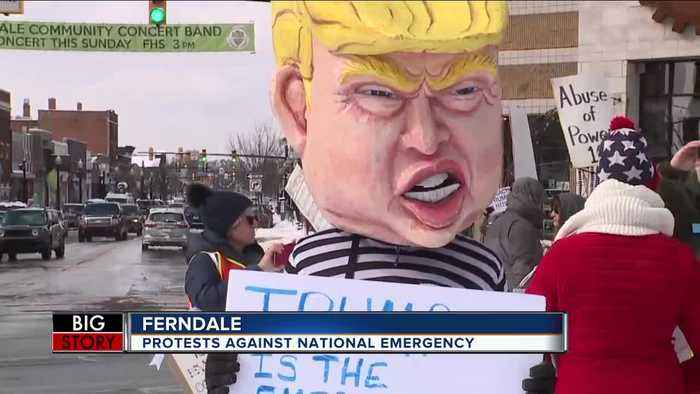 Trump protested in Ferndale