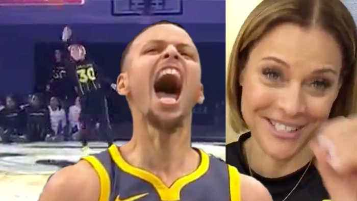 WATCH Steph Curry's Hot Mom Knocks Down INSANE Underhanded Half-Court Shot!