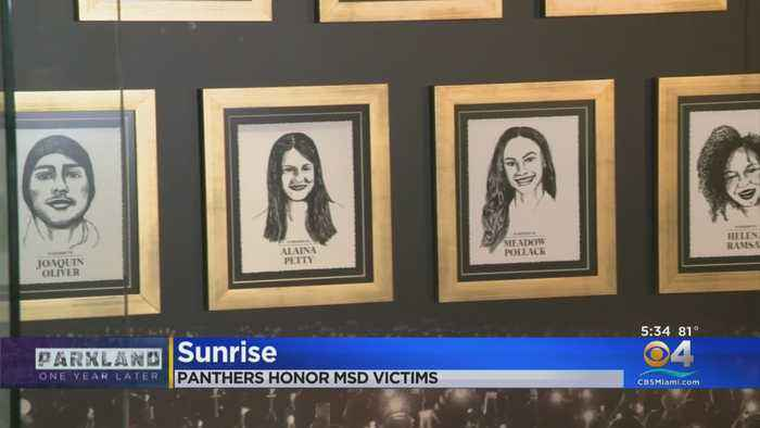 Panthers Dedicate Memorial For Parkland Victims Inside Team's Den Of Honor