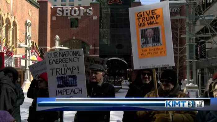Protesters on Presidents' Day