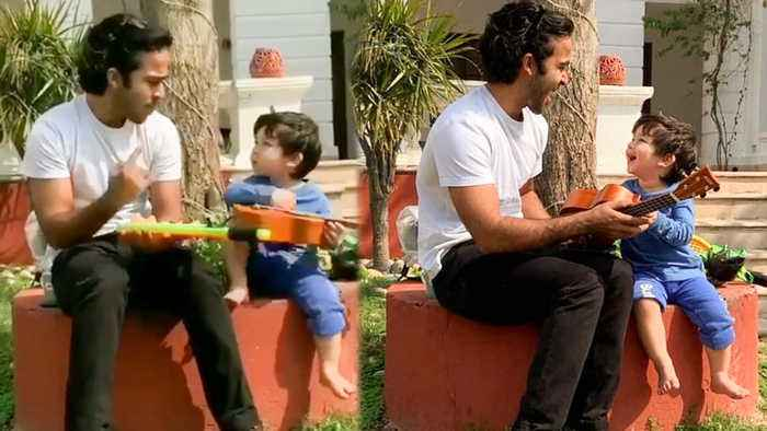 Taimur Ali Khan Learns To Play Guitar Without Saif Ali Khan And Kareena Kapoor | Latest VIDEO