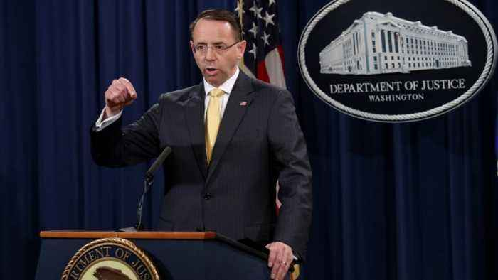 Rosenstein Will Reportedly Step Down in Mid-March