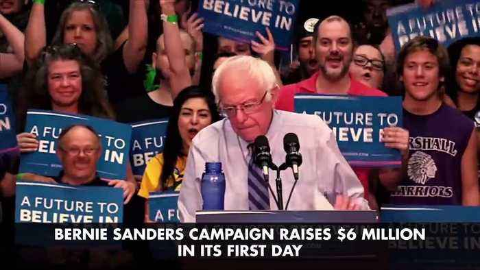 Bernie Sanders Campaign Raises $6 Million in its First Day