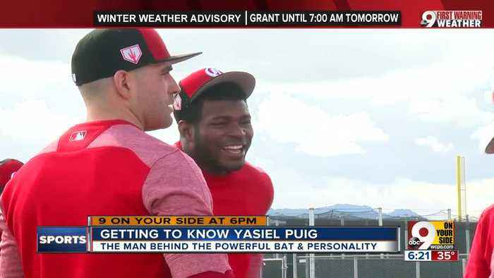 Yasiel Puig brings power bat, power personality to Reds