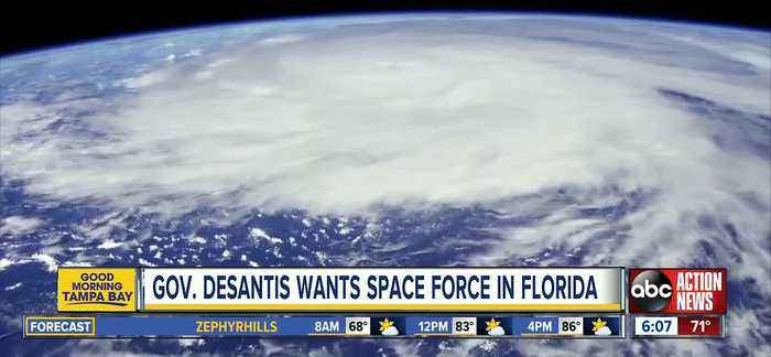 Governor Ron DeSantis wants Space Force based in Florida