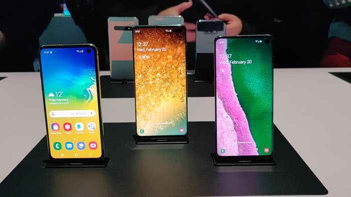 Samsung Shows off Galaxy S10 Lineup, S10 5G and New Galaxy Fold