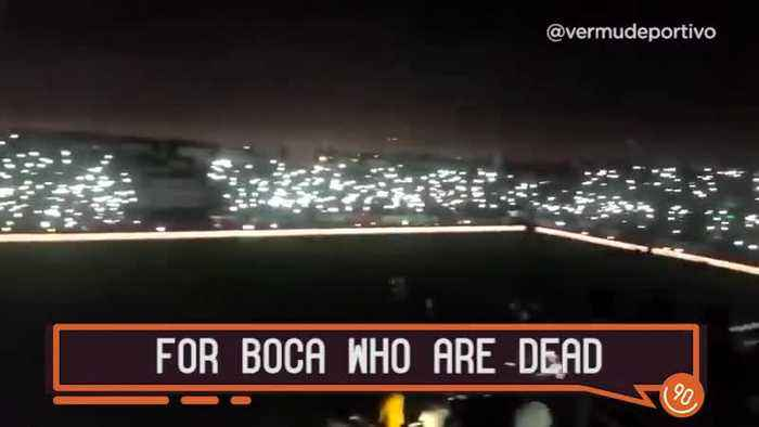 When the lights go out at a River Plate match..
