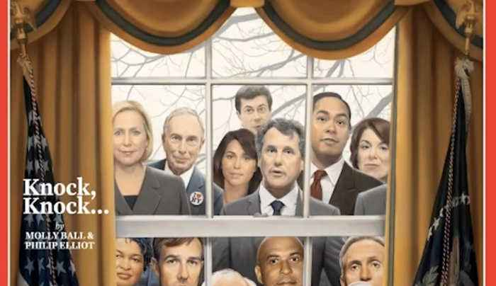Time Magazine Cover Portrays Crowded Field of Democratic Presidential Candidates