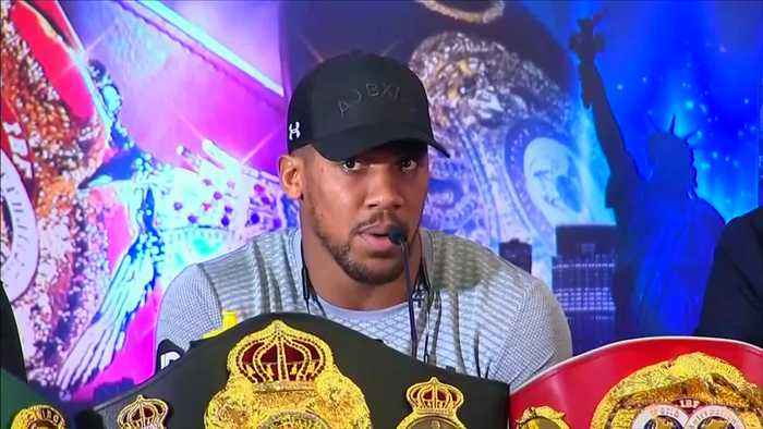 Joshua and Miller face off as they look ahead to title bout