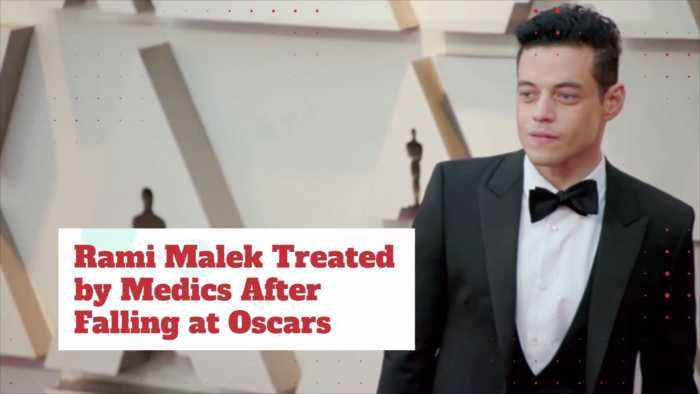 Rami Malek Fell At Oscars But Champagne Won Out
