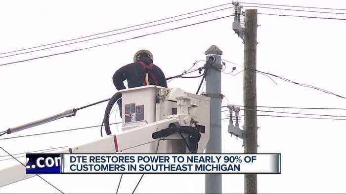 DTE: 17,000 remain without power in metro Detroit due to high winds