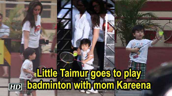 Little Taimur goes to play badminton with mom Kareena