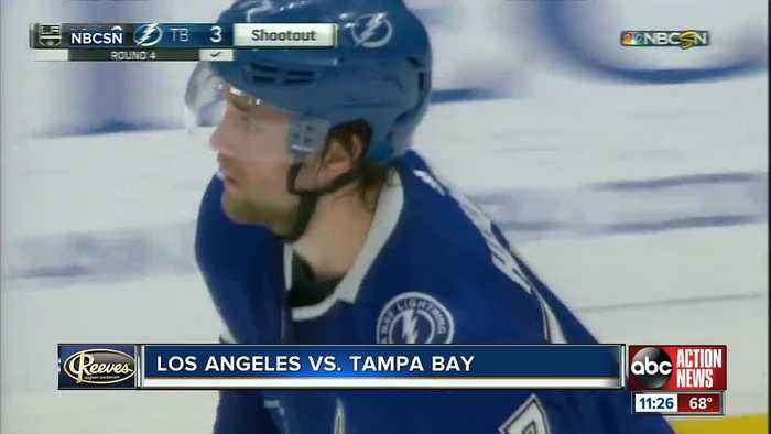 Tampa Bay Lightning win 9th straight game, beat Los Angeles Kings 4-3 in shootout
