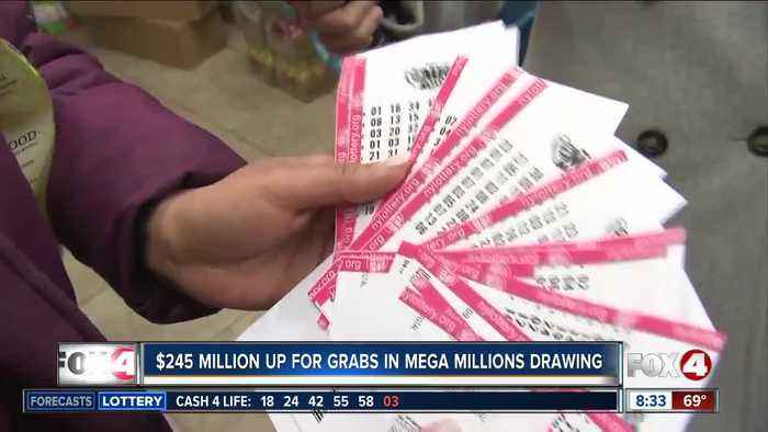 $245 million up for grabs in Mega Millions drawing