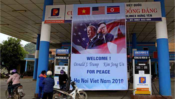 President Trump Arrives In Vietnam For Summit With North Korea's Kim