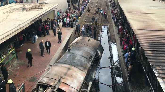 Cairo train crash kills dozens and causes deadly blaze