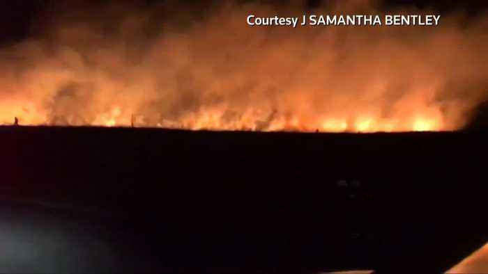Huge fire breaks out in Greater Manchester - Sky News