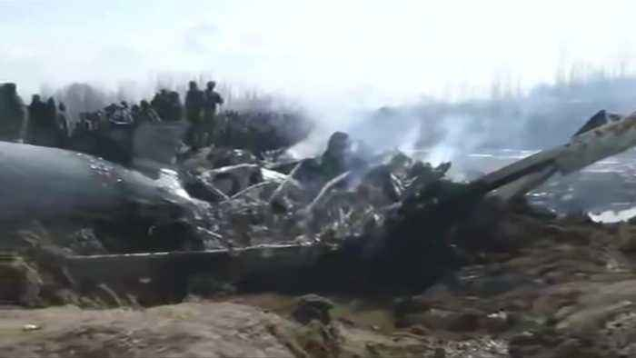 Indian air force plane crashes in Kashmir