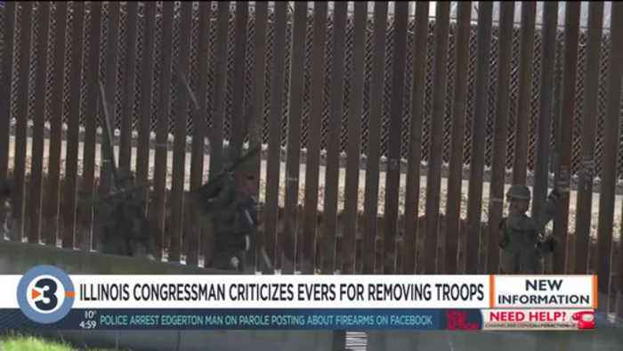 Illinois Rep. who criticized Evers' removal of troops says he was exercising freedom of speech