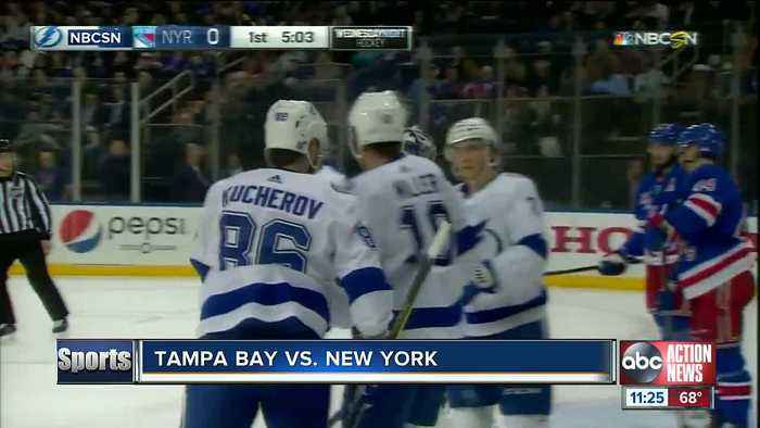 Tampa Bay Lightning win 10th straight game, top New York Rangers 4-3 in overtime