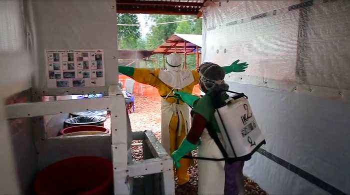 Two Ebola clinics burned down in DR Congo