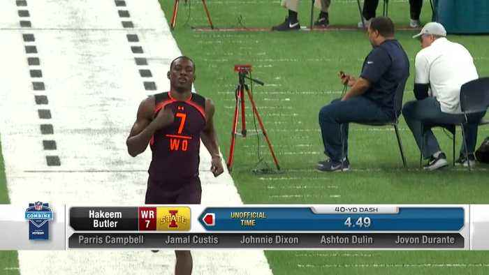 Iowa State wide receiver Hakeem Butler's 2019 NFL Scouting Combine workout