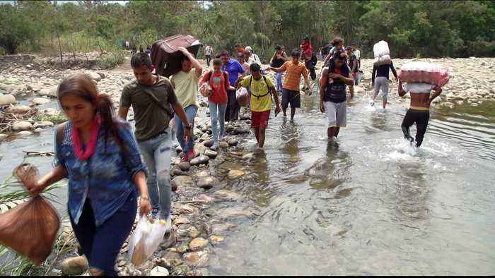 Desperate Venezuelans cross Tachira River to survive