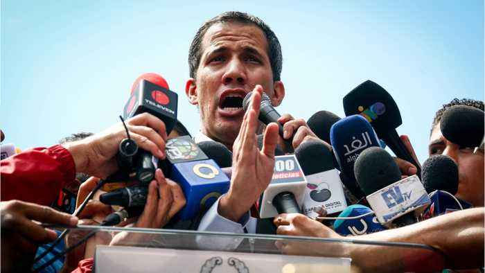 Opposition Leader Juan Guaido Mobbed By Supporters At Airport In Venezuela