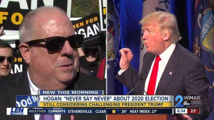 Gov. Hogan still considering challenging the president for the White House in 2020