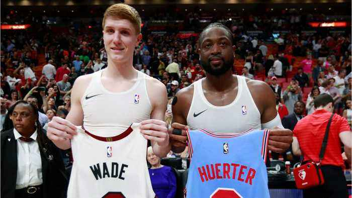 Dwyane Wade Surprises Rookie Guard With Post-Game Jersey Swap