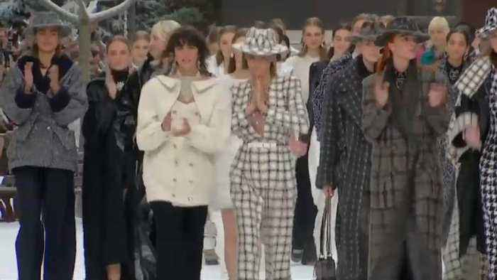 Lagerfeld's last show: Paris fashion week remembers designer at Chanel