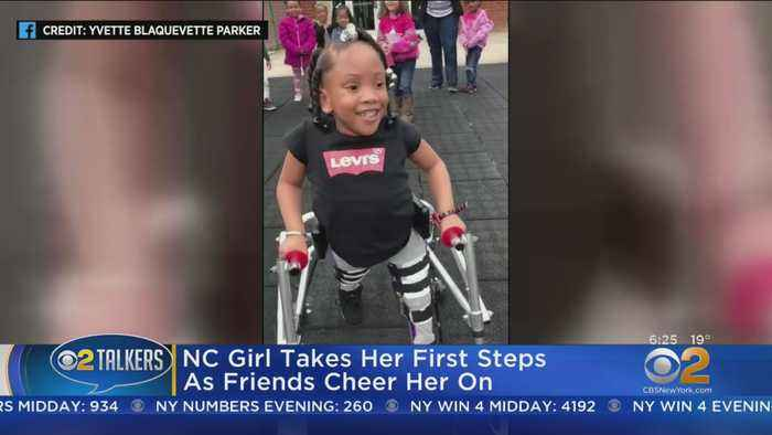 Girl With Spina Bifida Takes First Steps