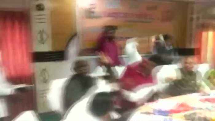 'Shoe brawl' between Indian MPs goes viral
