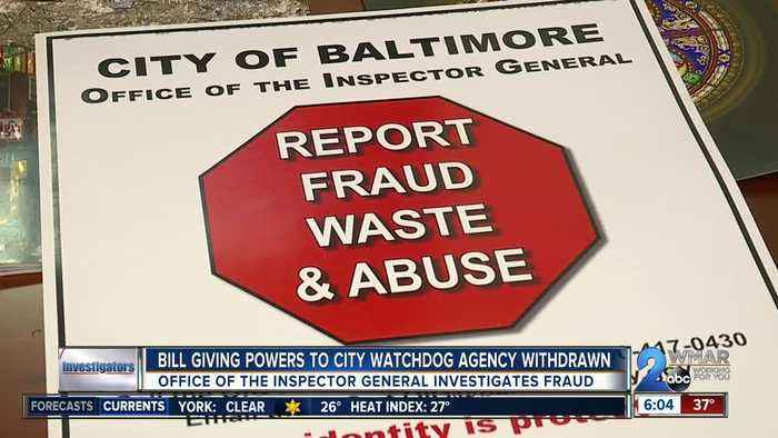 Bill giving City Inspector General power to investigate police department & school system withdrawn