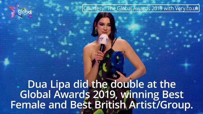 Global Awards 2019: Dua Lipa says woman are finally getting recognition