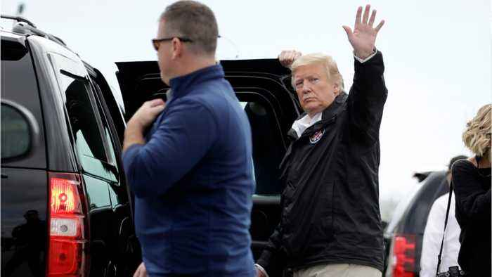 Trump Visits Alabama Communities Destroyed By Tornadoes