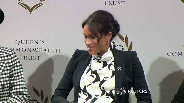 Meghan Markle jokes about royal baby's ''embryonic kicking of feminism''