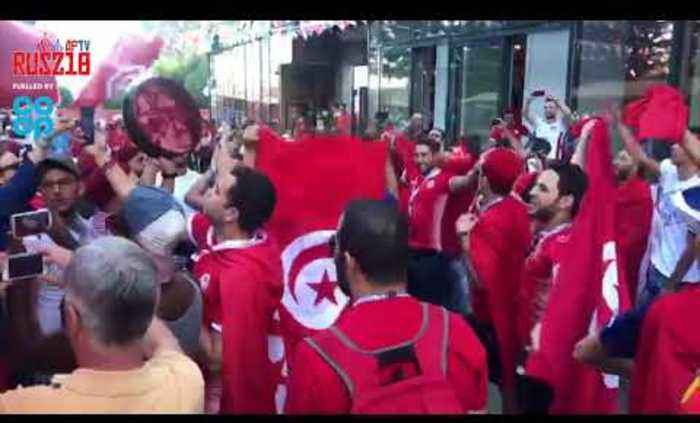 Tunisia Fans Create Party Atmosphere In Volgograd Ahead Of England Game! | Russia World Cup 2018