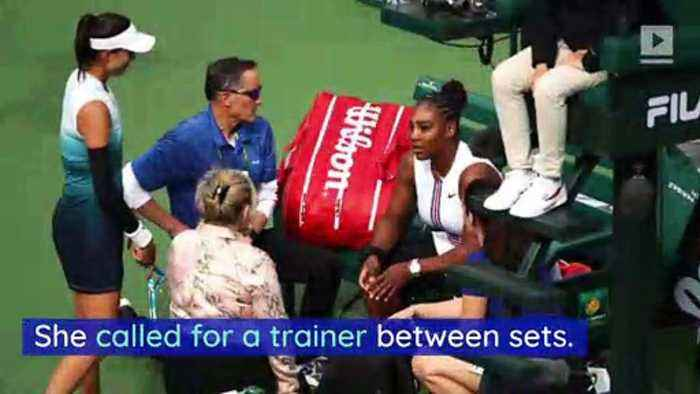 Serena Williams Quits Tournament Due to 'Extreme Dizziness'
