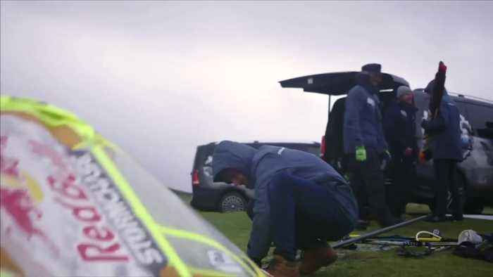 Daring windsurfers battle stormy conditions in Ireland