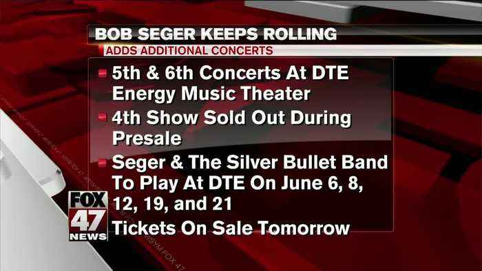 Bob Seger adds 5th, 6th show at DTE Music Theatre