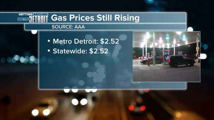 Gas prices continue to rise in metro Detroit